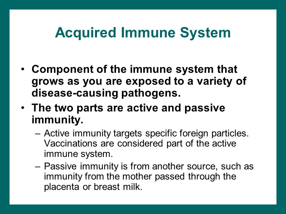 Acquired Immune System