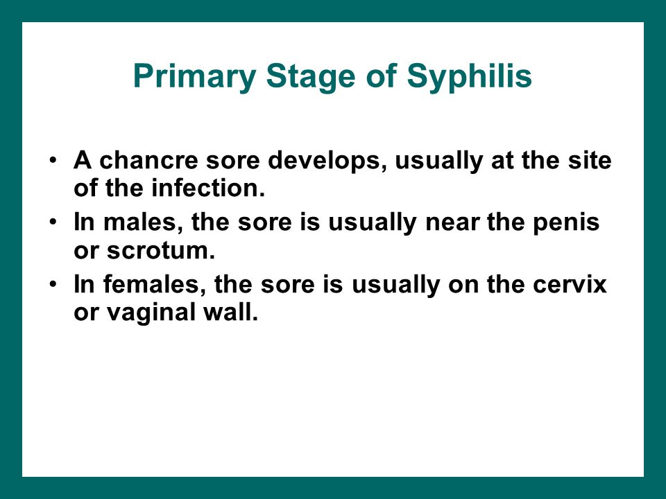 Primary Stage of Syphilis