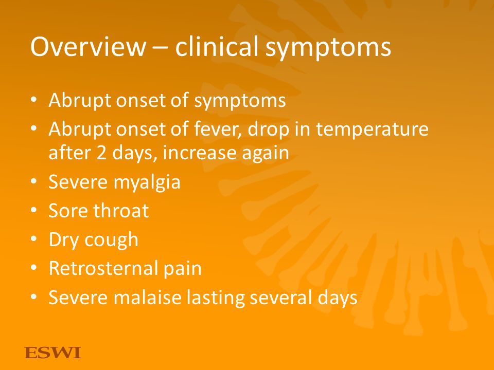 Overview – clinical symptoms