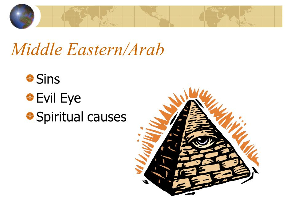 Middle Eastern/Arab Sins Evil Eye Spiritual causes