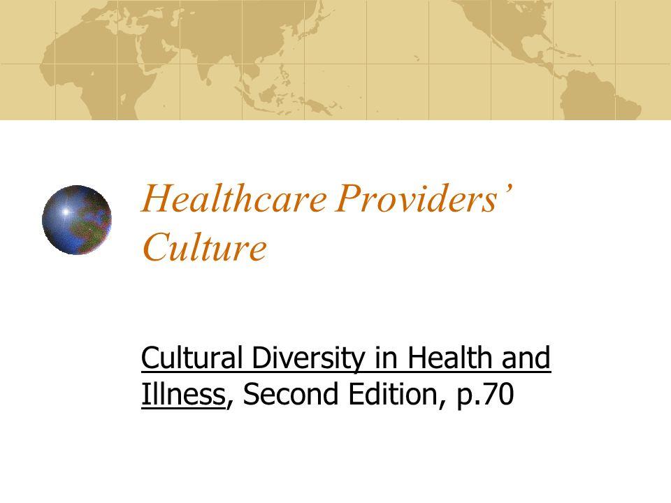 Healthcare Providers' Culture