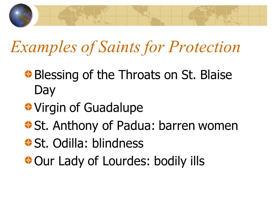 Examples of Saints for Protection