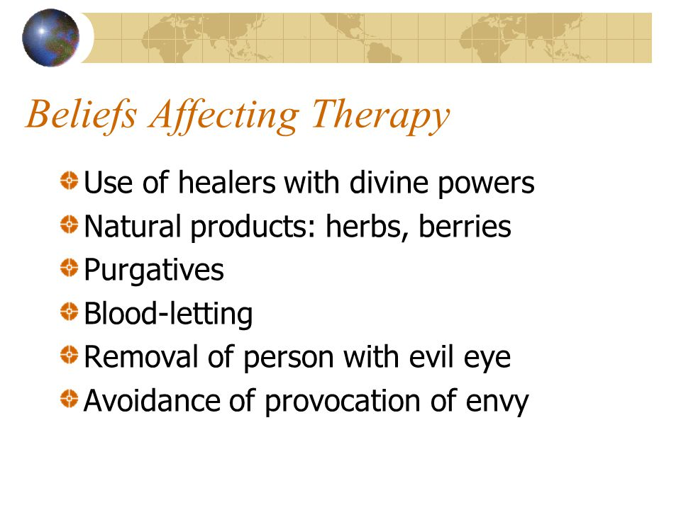 Beliefs Affecting Therapy