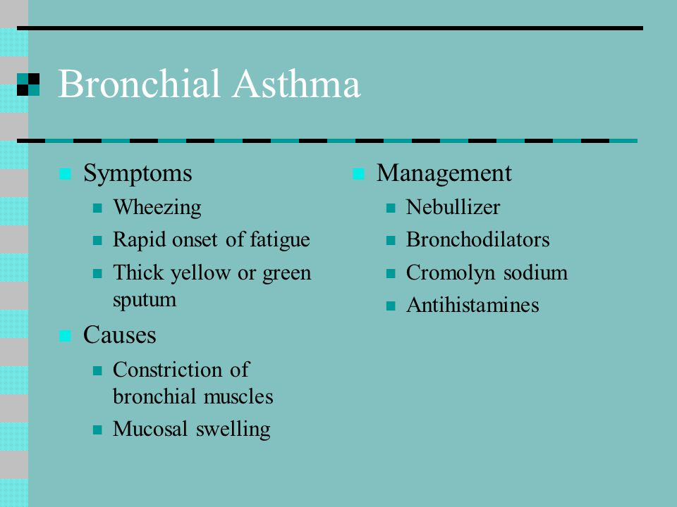 Bronchial Asthma Symptoms Causes Management Wheezing
