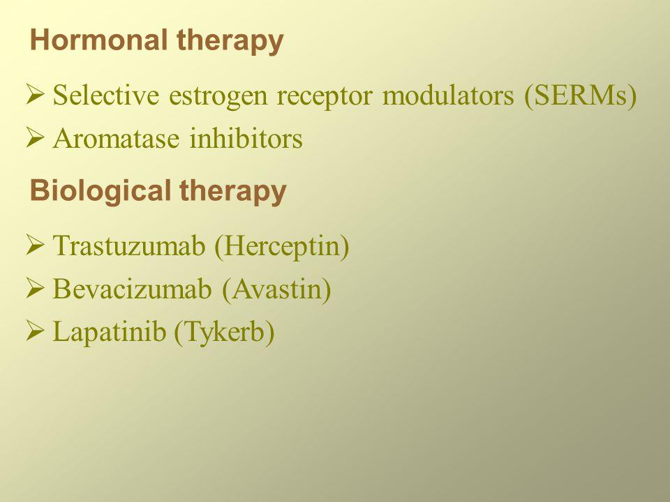 Selective estrogen receptor modulators (SERMs) Aromatase inhibitors