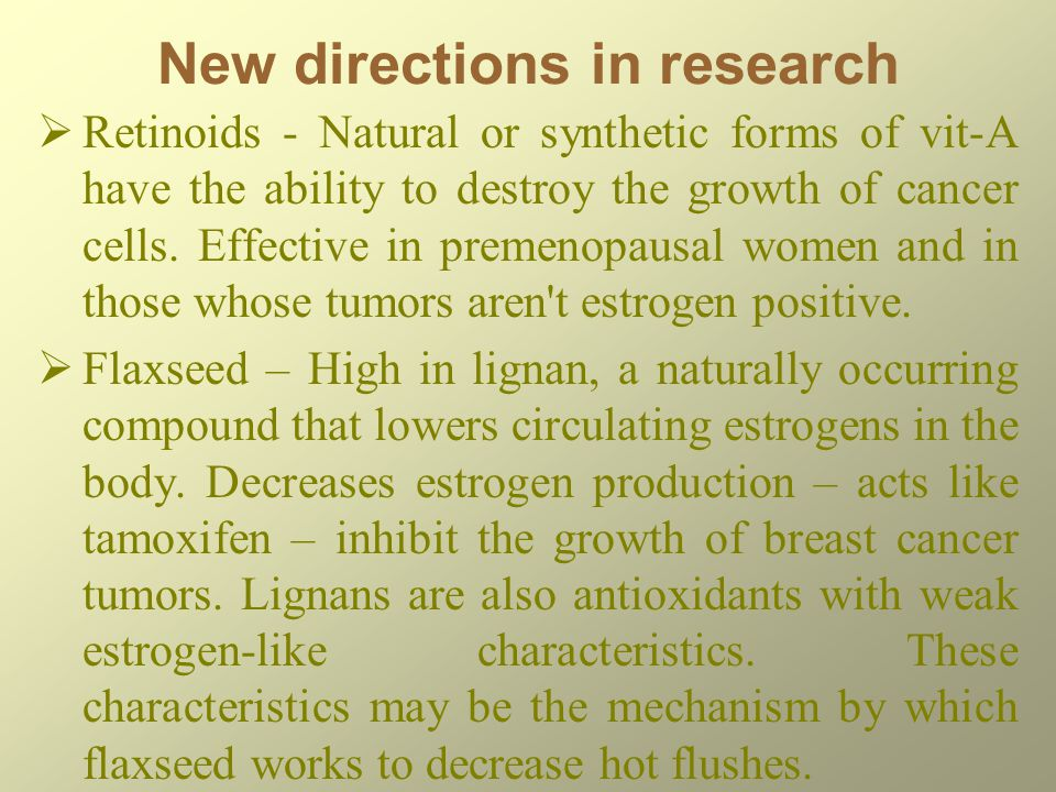 New directions in research