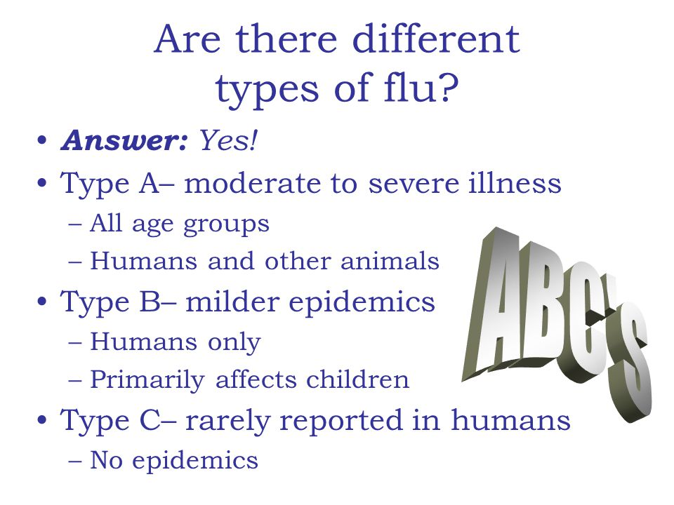 Are there different types of flu