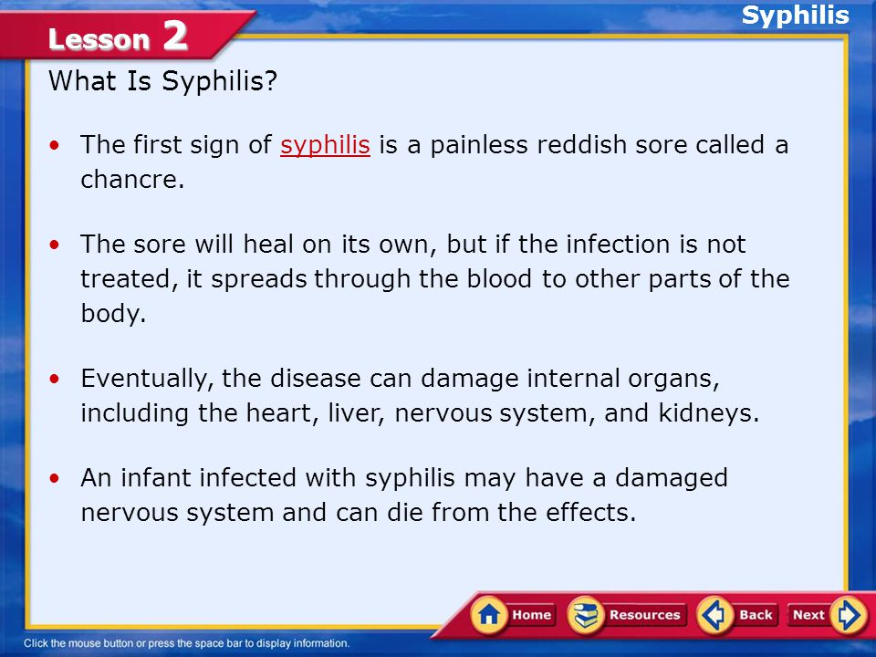 What Is Syphilis Syphilis