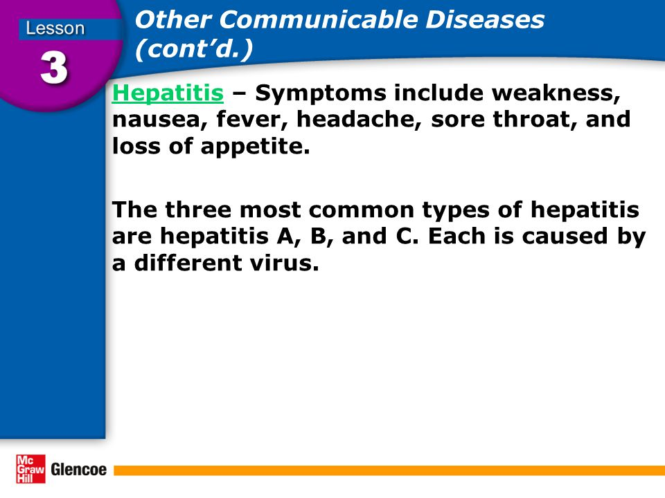 Other Communicable Diseases (cont'd.)