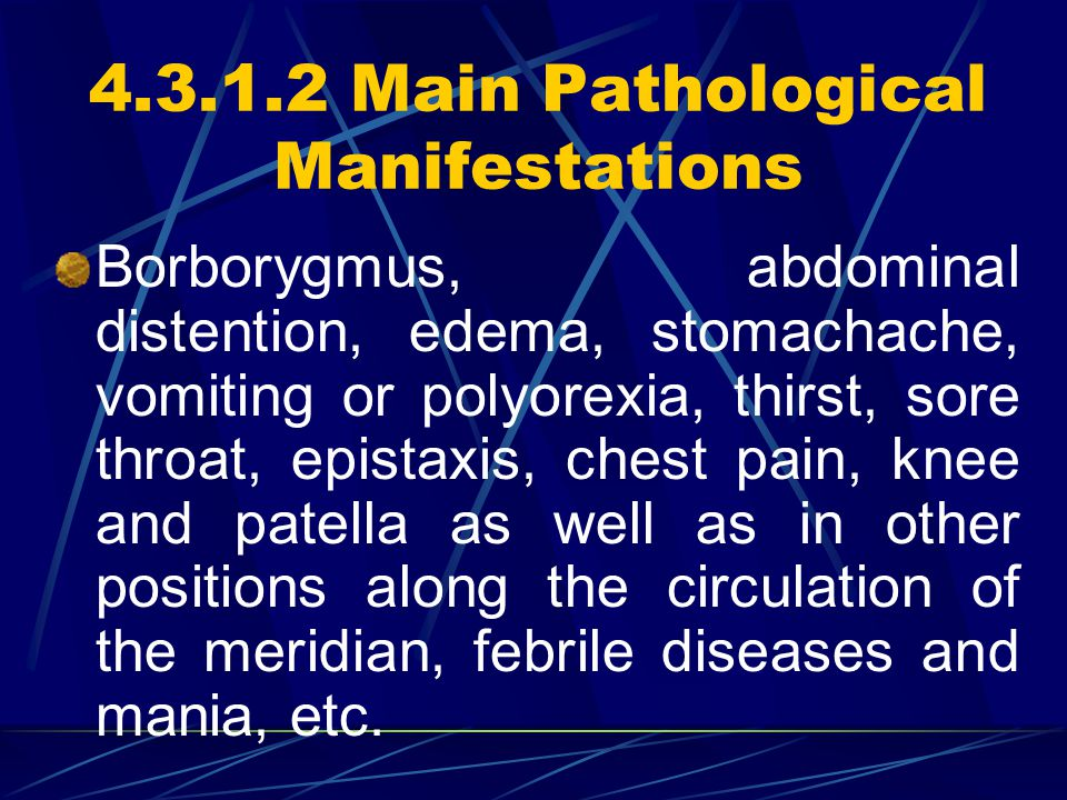 4.3.1.2 Main Pathological Manifestations