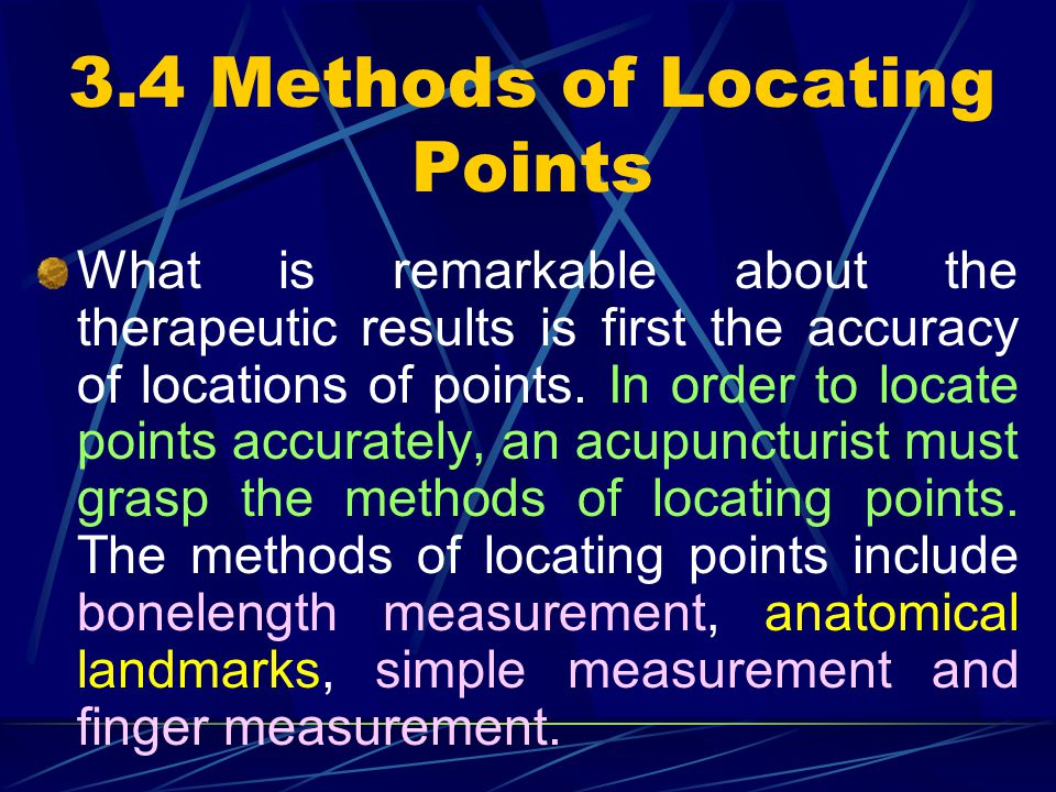 3.4 Methods of Locating Points