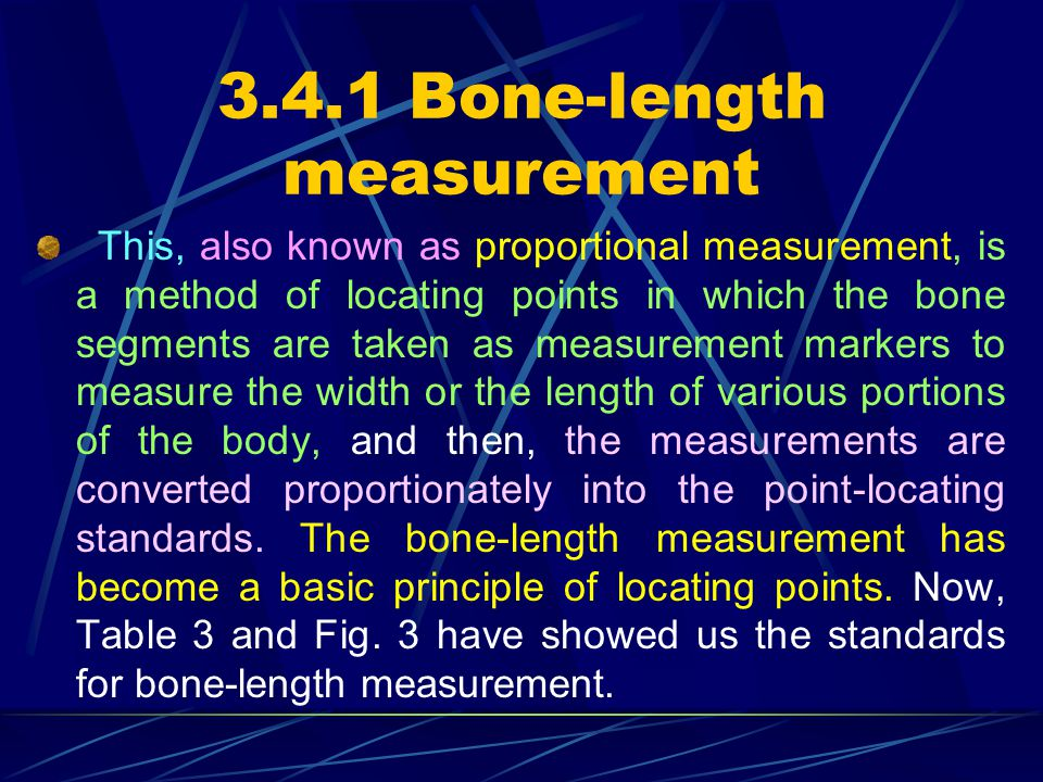 3.4.1 Bone-length measurement