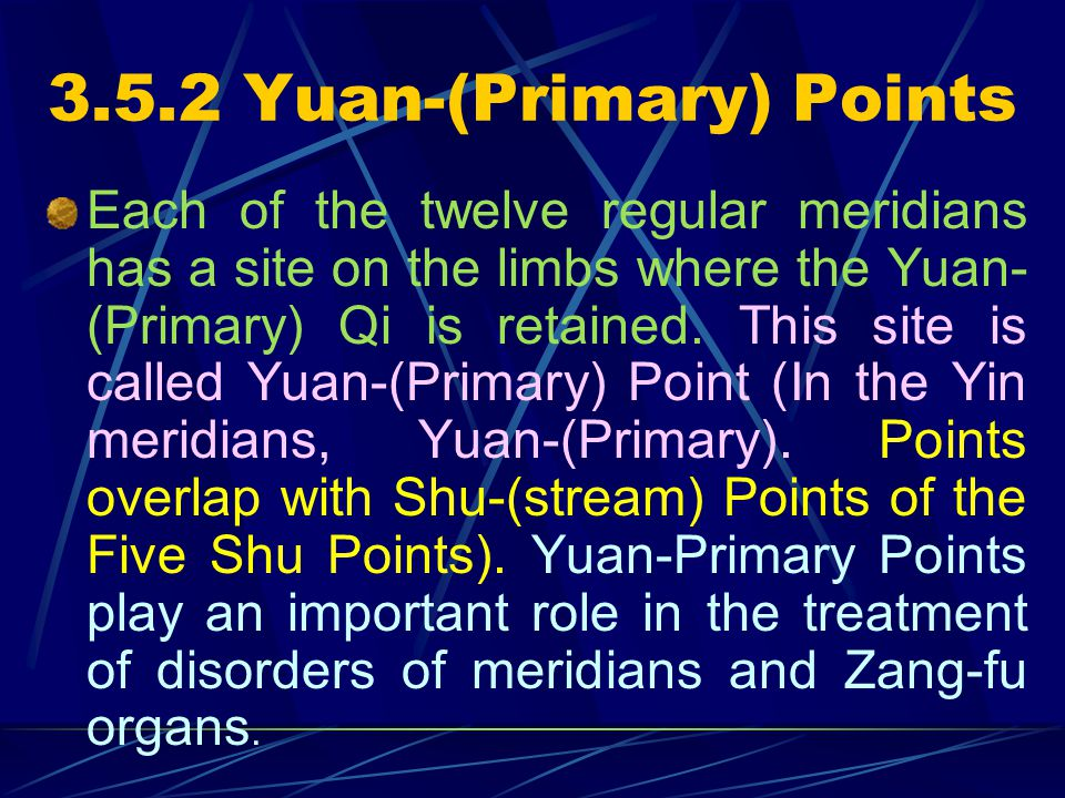 3.5.2 Yuan-(Primary) Points