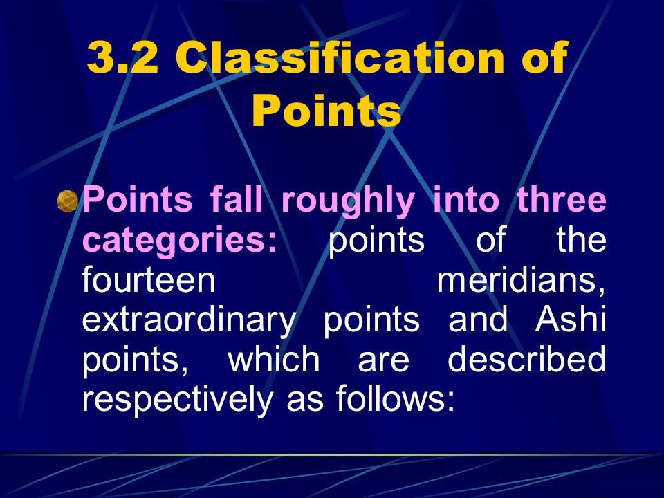 3.2 Classification of Points