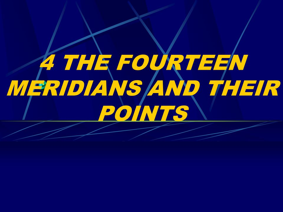 4 THE FOURTEEN MERIDIANS AND THEIR POINTS