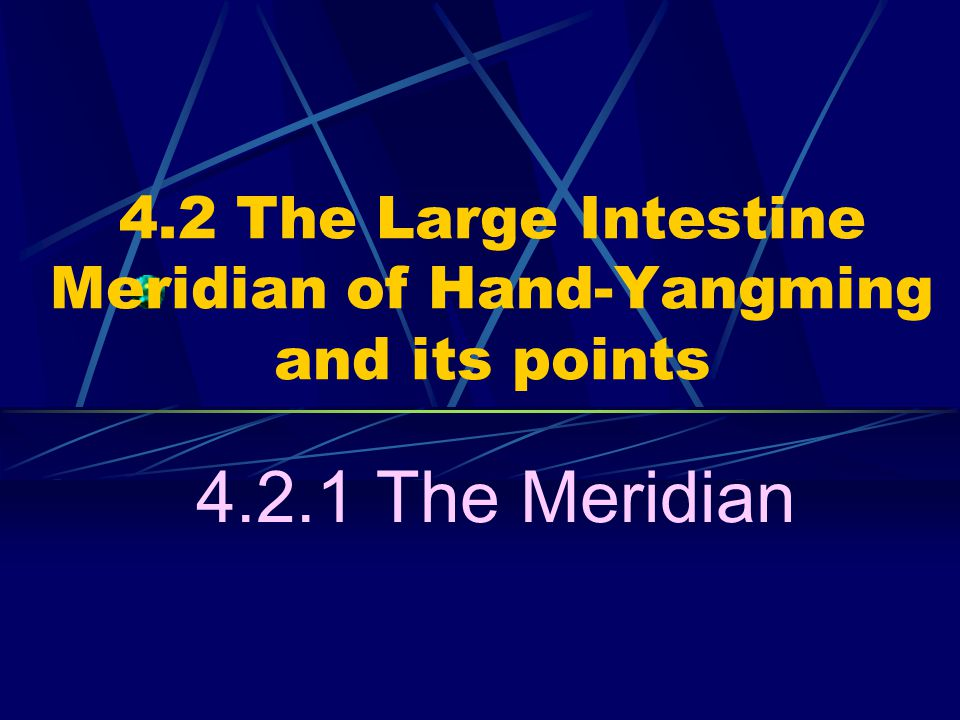 4.2 The Large Intestine Meridian of Hand-Yangming and its points