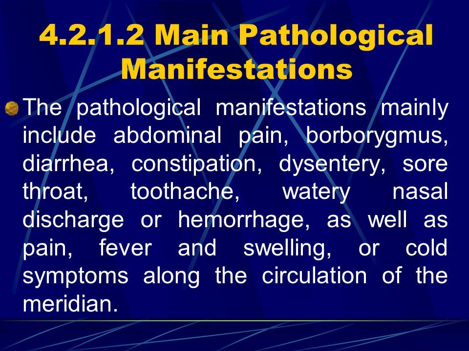 4.2.1.2 Main Pathological Manifestations