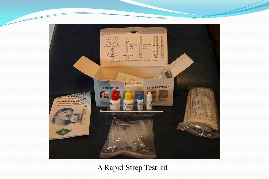 A Rapid Strep Test kit