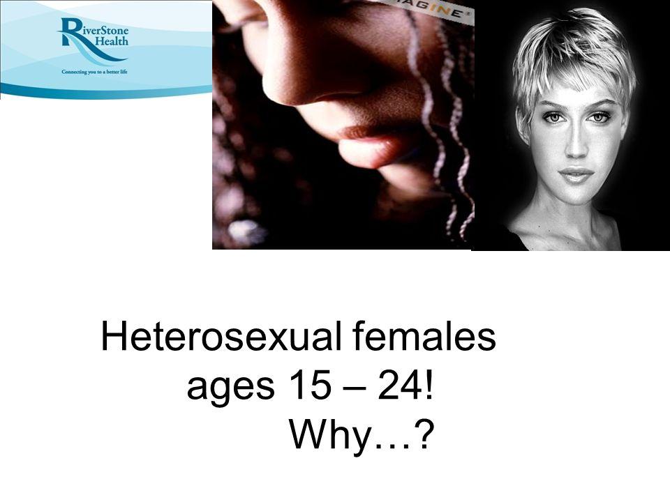 Heterosexual females ages 15 – 24!