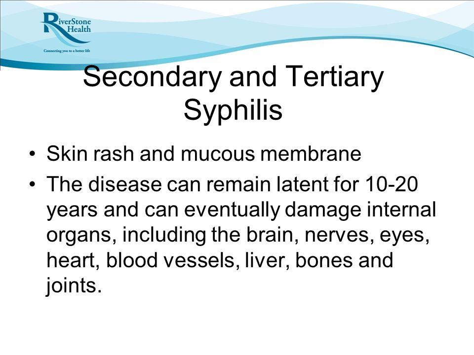 Secondary and Tertiary Syphilis