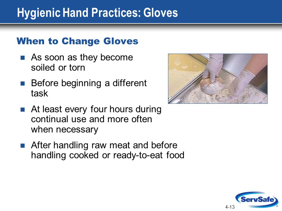 Hygienic Hand Practices: Gloves