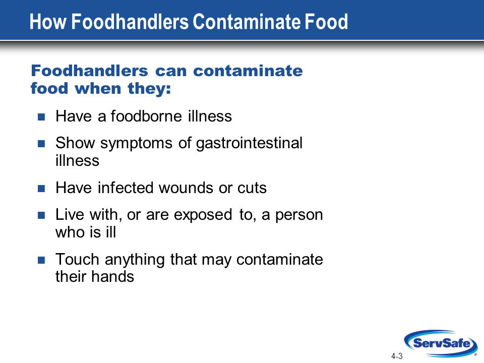 How Foodhandlers Contaminate Food