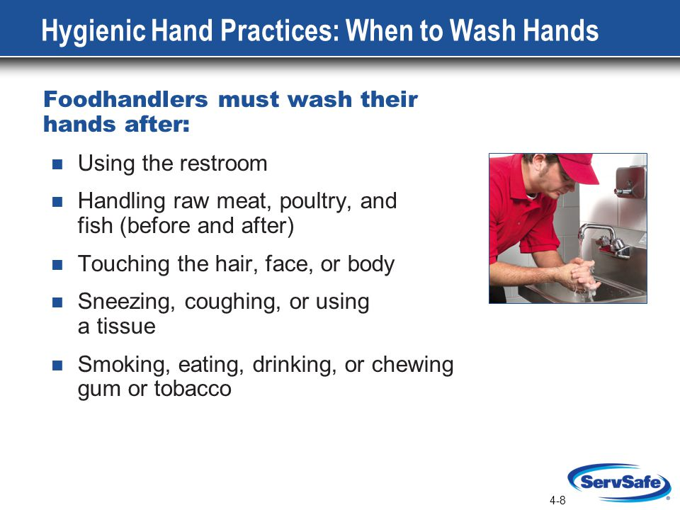 Hygienic Hand Practices: When to Wash Hands