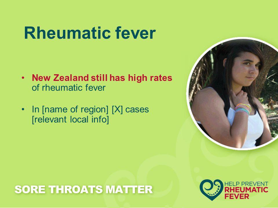 Rheumatic fever SORE THROATS MATTER