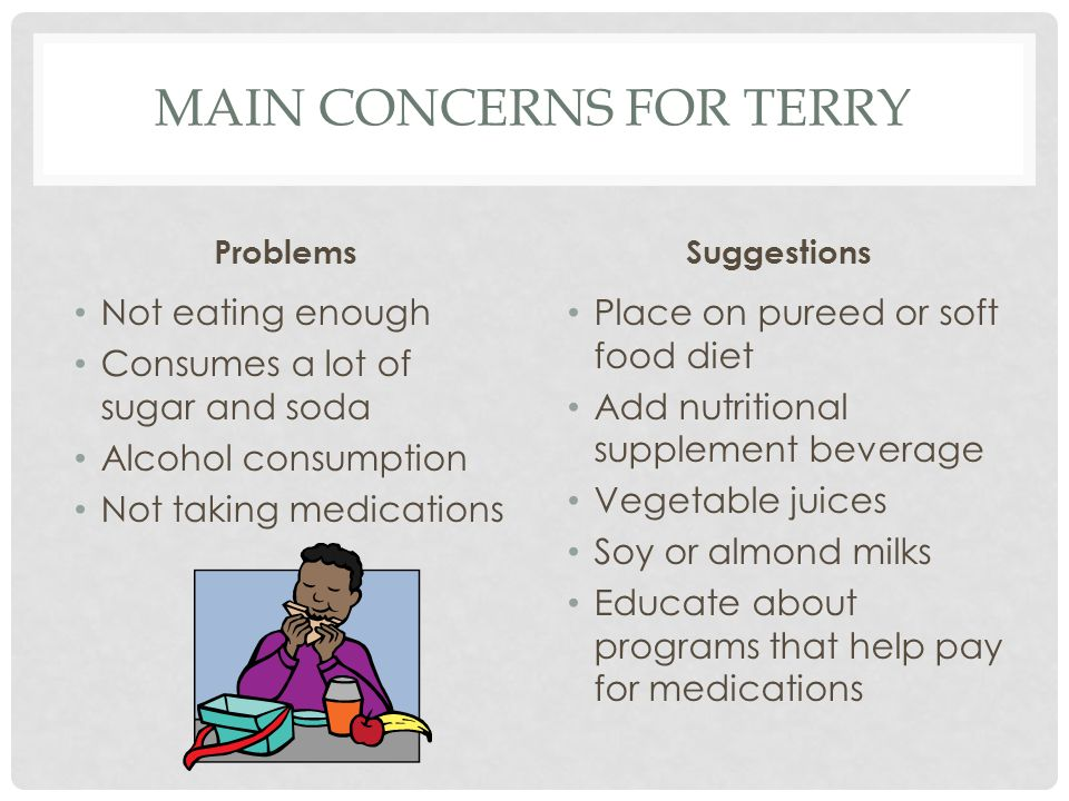 Main concerns for terry