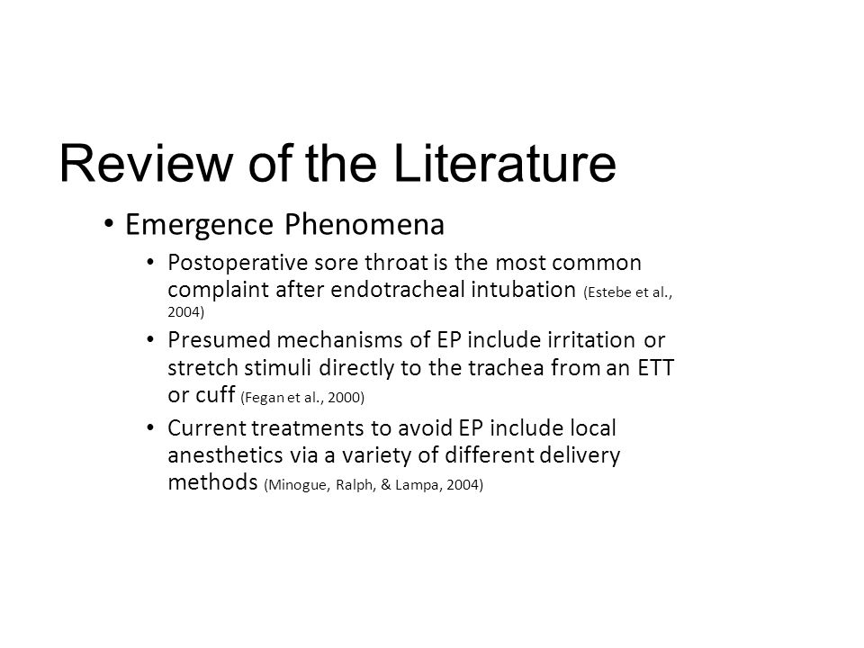 Review of the Literature