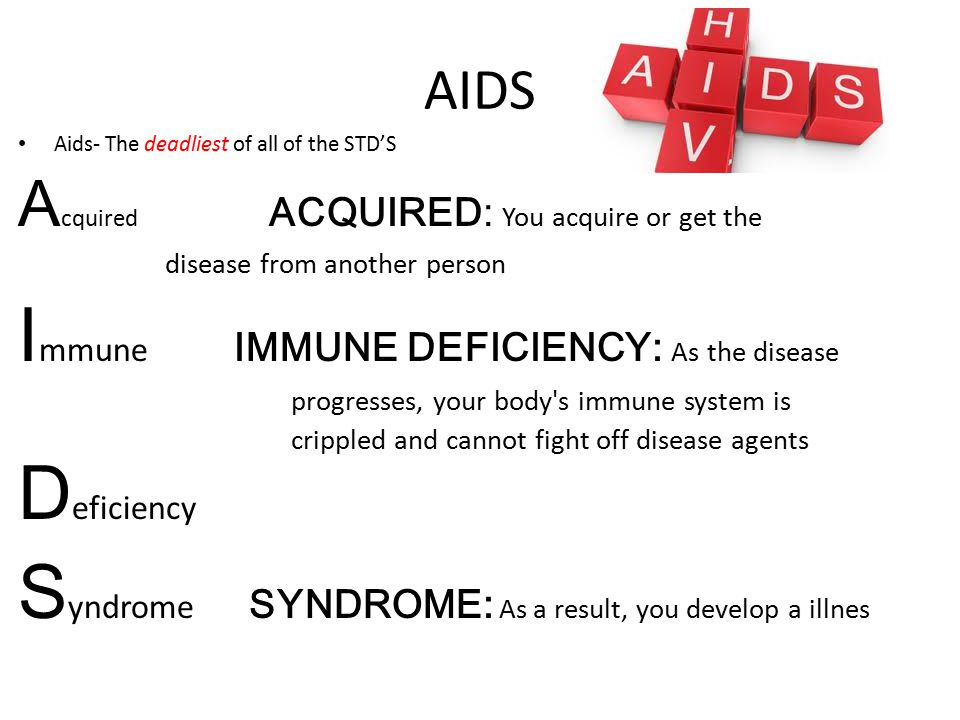Immune IMMUNE DEFICIENCY: As the disease
