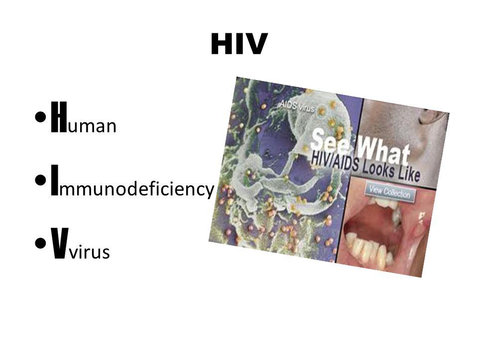 HIV Human Immunodeficiency Vvirus