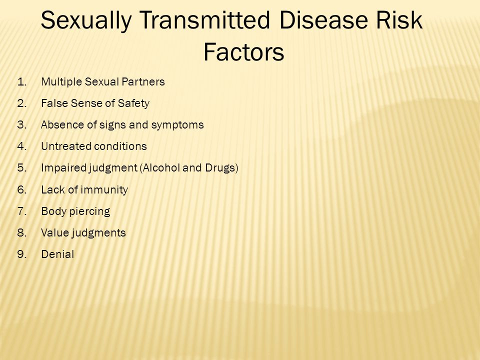 Sexually Transmitted Disease Risk Factors