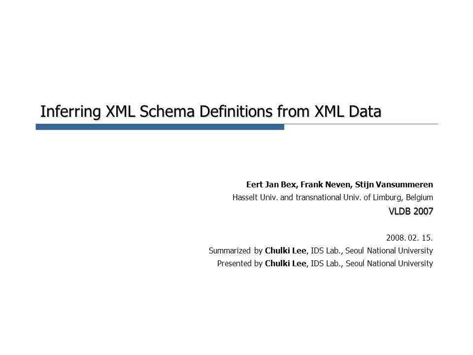 Inferring XML Schema Definitions from XML Data