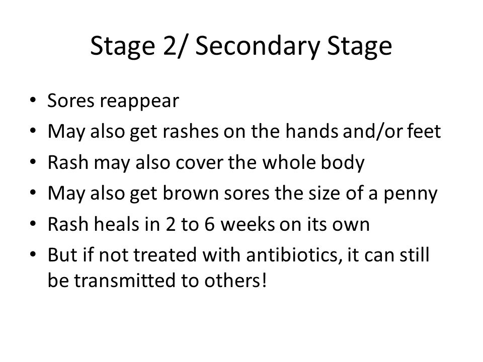 Stage 2/ Secondary Stage