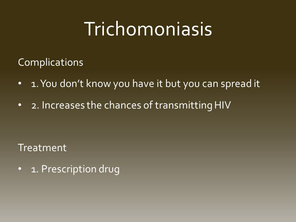 Trichomoniasis Complications