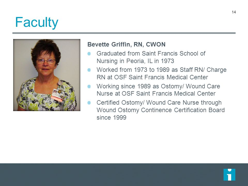 Faculty Bevette Griffin, RN, CWON