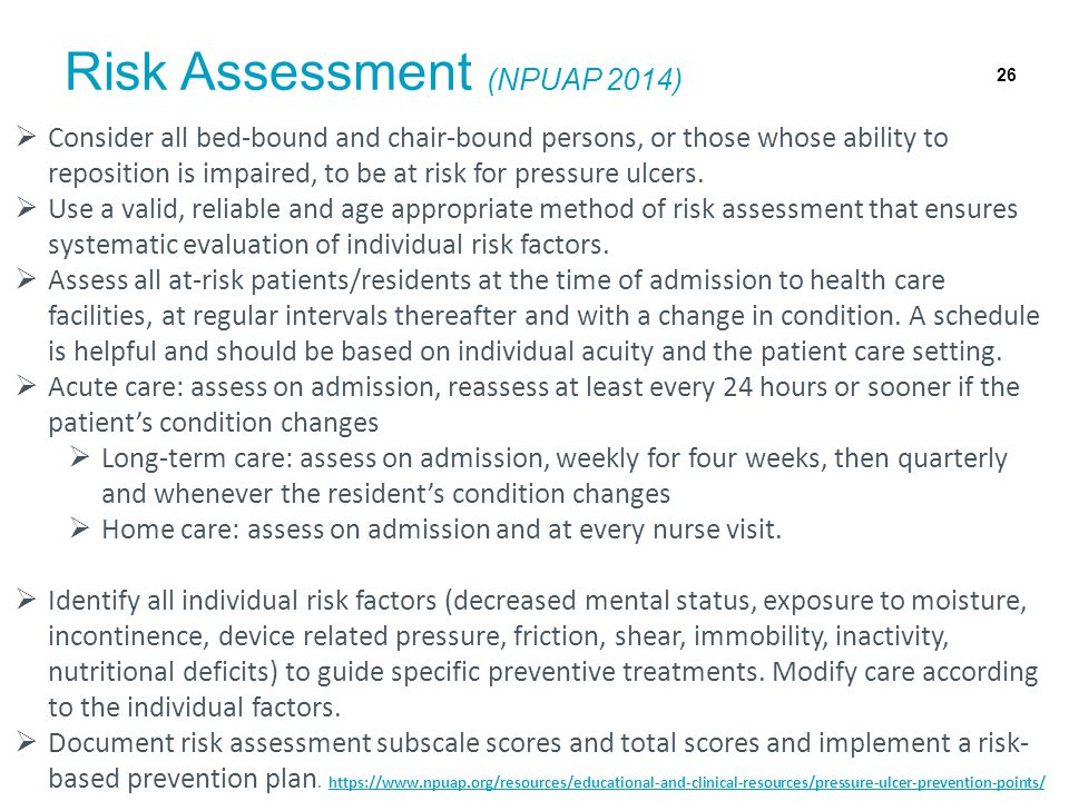 Risk Assessment (NPUAP 2014)