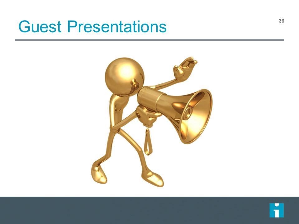 Guest Presentations