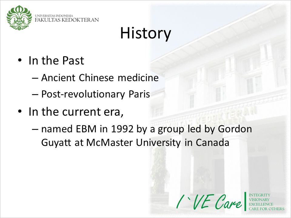 History In the Past In the current era, Ancient Chinese medicine