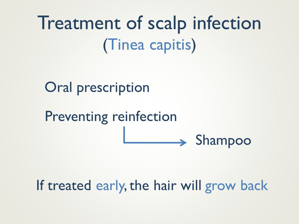 Treatment of scalp infection (Tinea capitis)