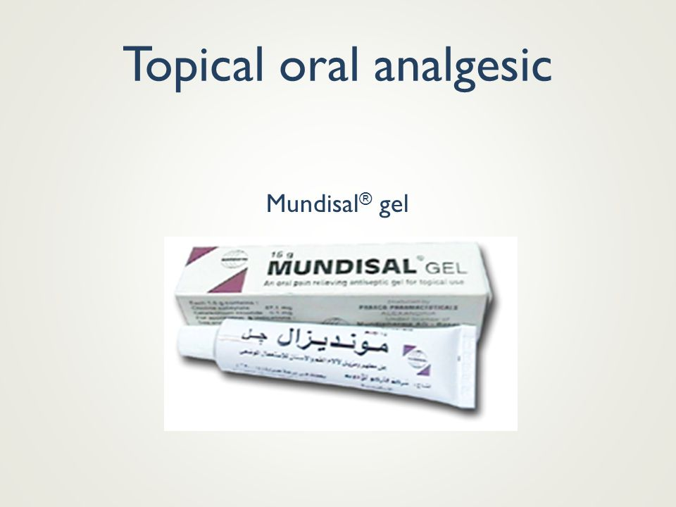 Topical oral analgesic