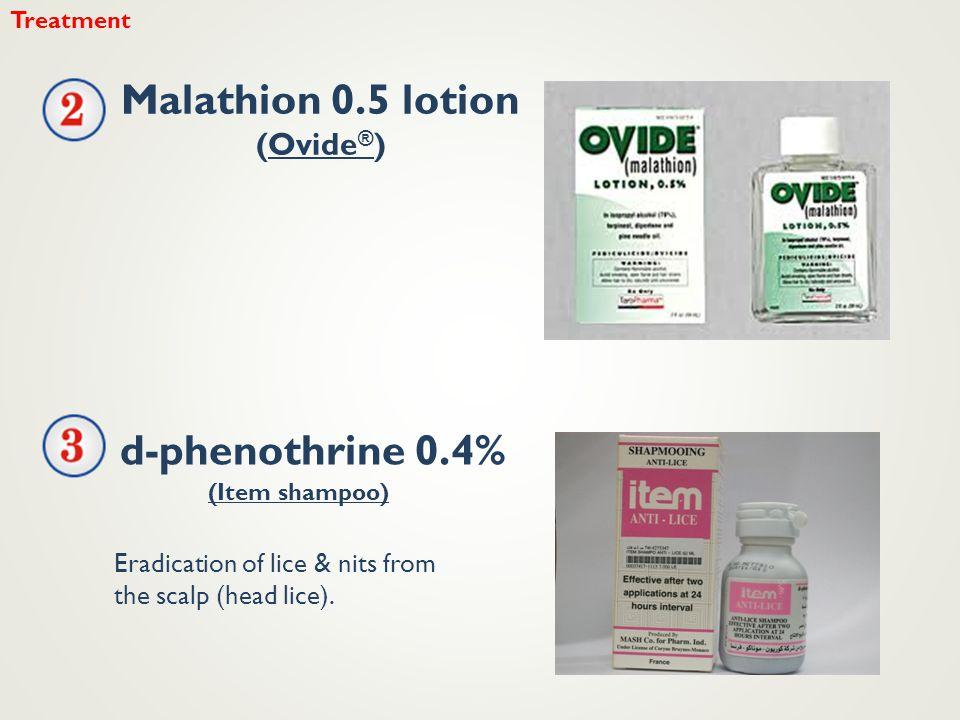 Malathion 0.5 lotion d-phenothrine 0.4%