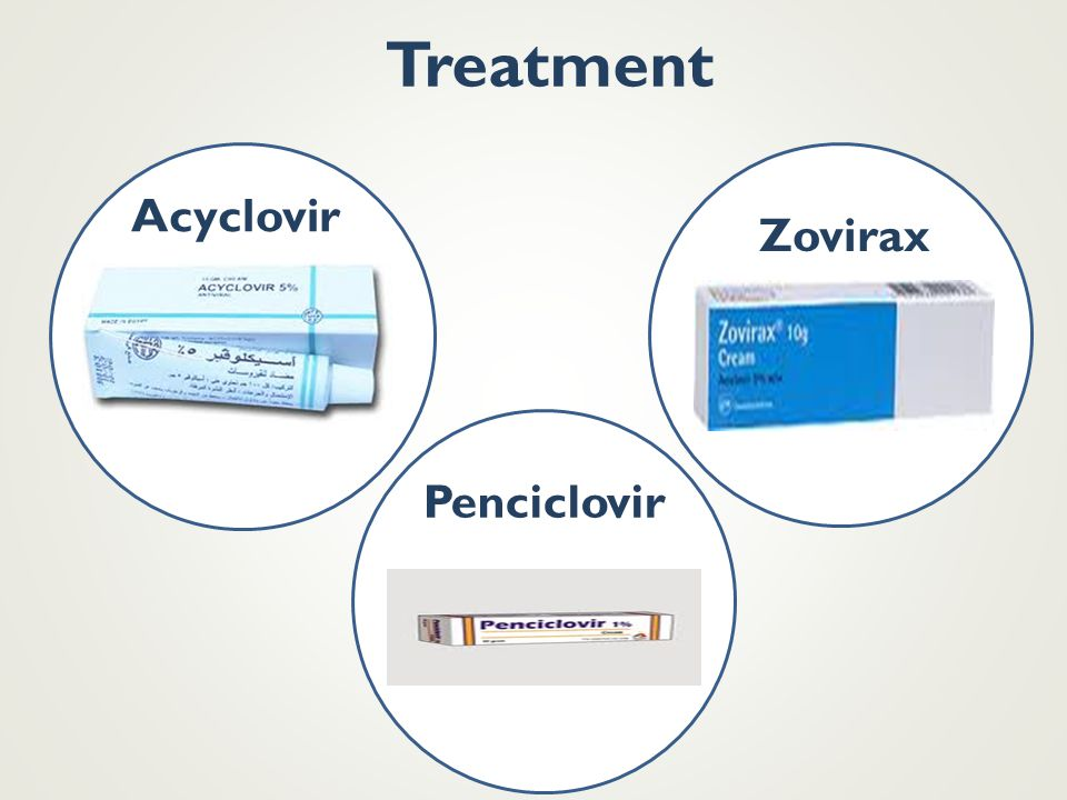 Treatment Acyclovir Zovirax Penciclovir