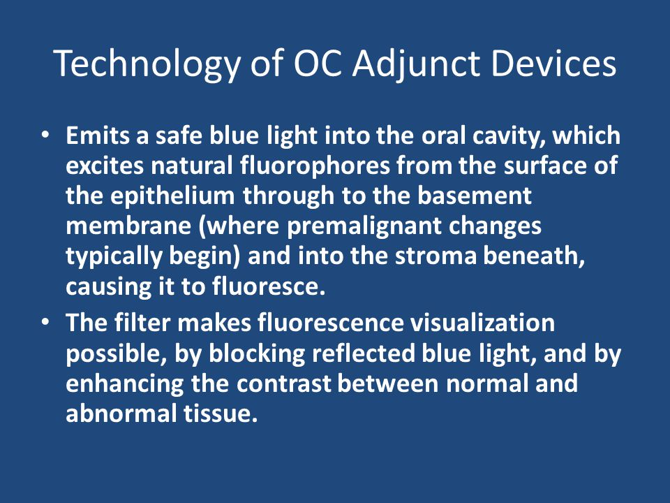 Technology of OC Adjunct Devices