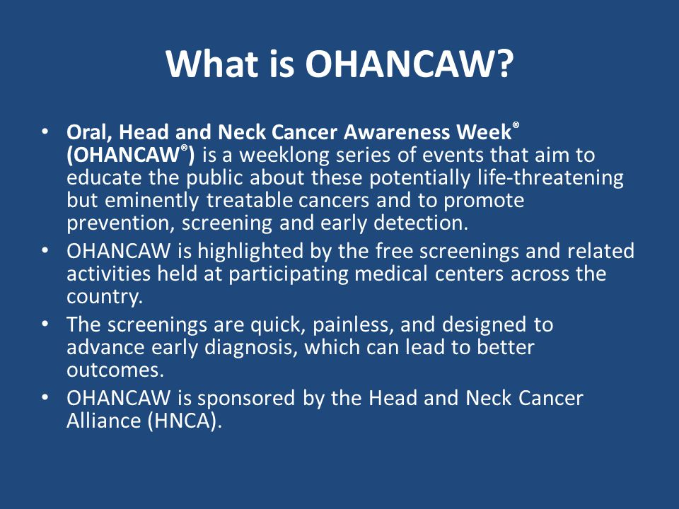 What is OHANCAW