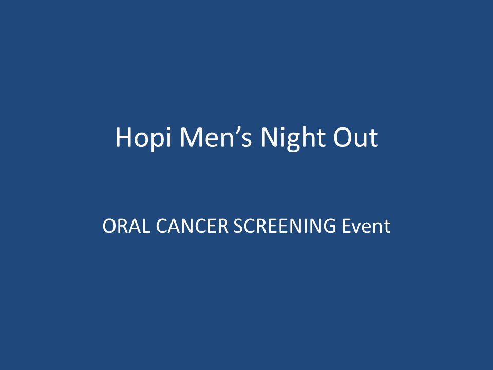 ORAL CANCER SCREENING Event