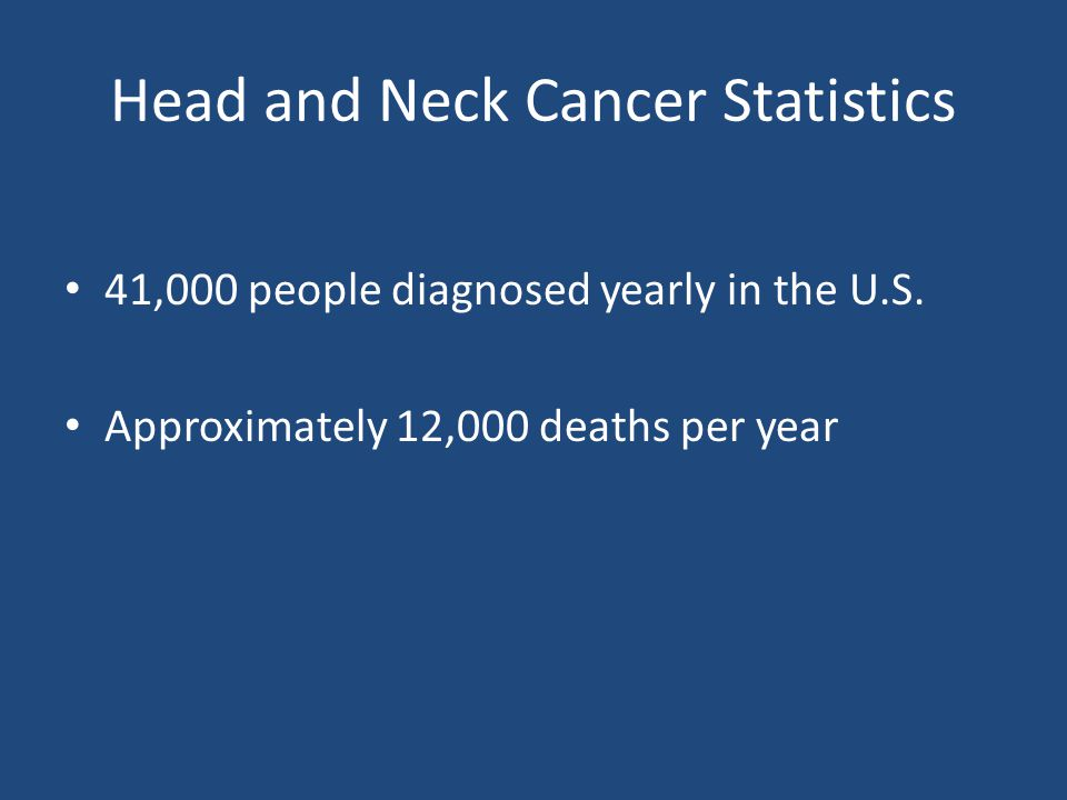 Head and Neck Cancer Statistics