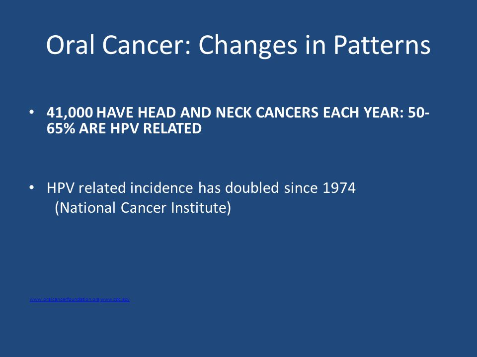 Oral Cancer: Changes in Patterns