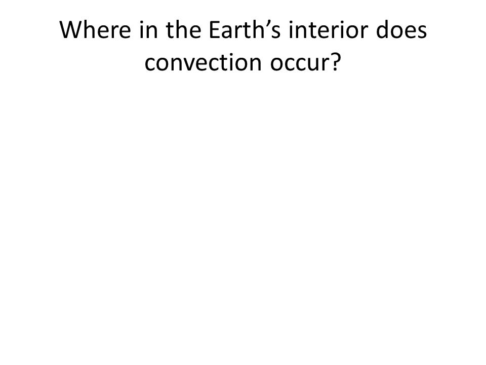 Where in the Earth's interior does convection occur